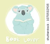 cute blue koala hand drawn... | Shutterstock .eps vector #1070532935