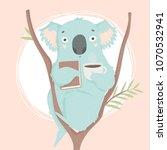 cute blue koala hand drawn... | Shutterstock .eps vector #1070532941