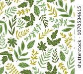 hand drawn seamless pattern  ... | Shutterstock .eps vector #1070534615
