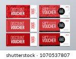 set of 6 red banner background...   Shutterstock .eps vector #1070537807