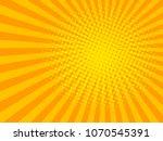 yellow sun shine halftone...   Shutterstock .eps vector #1070545391