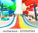 water rides from the bottom up... | Shutterstock . vector #1070545565