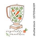 food processor  mixer  blender... | Shutterstock .eps vector #1070546339