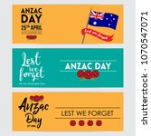 vector illustration for anzac... | Shutterstock .eps vector #1070547071
