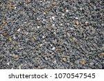 Grey Gravel Pile Closeup Photo...