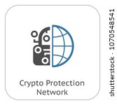 crypto protection network icon. ... | Shutterstock .eps vector #1070548541