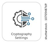 cryptography settings icon.... | Shutterstock .eps vector #1070548769