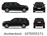 realistic suv car. front view ... | Shutterstock .eps vector #1070555171