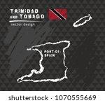 trinidad and tobago map  vector ... | Shutterstock .eps vector #1070555669