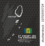 map of saint vincent and the... | Shutterstock .eps vector #1070555729