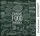 famous world food doodle line...