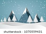 snow forest with pines and... | Shutterstock .eps vector #1070559431