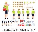 tourist  traveler creation kit. ... | Shutterstock .eps vector #1070565437