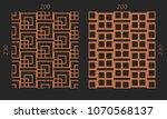 laser cutting interior set.... | Shutterstock .eps vector #1070568137