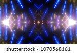 bokeh light blue abstract... | Shutterstock . vector #1070568161