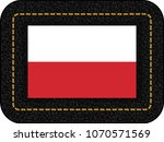 flag of poland. vector icon on... | Shutterstock .eps vector #1070571569