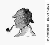 Sketch Silhouette Of Sherlock...