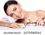 attractive  girl with brown... | Shutterstock . vector #1070580041