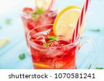 colorful refreshing drinks for... | Shutterstock . vector #1070581241