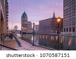 downtown skyline with buildings ...   Shutterstock . vector #1070587151