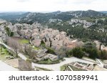 aerial view to medieval...   Shutterstock . vector #1070589941