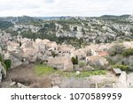 aerial view to medieval...   Shutterstock . vector #1070589959