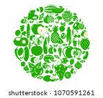 fruits and vegetables berries.... | Shutterstock .eps vector #1070591261