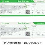 two variants of airline... | Shutterstock .eps vector #1070600714