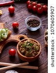 paste from chicken liver with... | Shutterstock . vector #1070605907