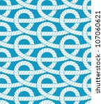 ropes seamless pattern. vector... | Shutterstock .eps vector #107060621