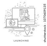 website promotion. modern flat... | Shutterstock .eps vector #1070609135