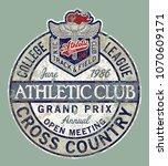 vintage college league track... | Shutterstock .eps vector #1070609171