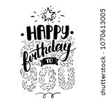 happy birthday greeting card.... | Shutterstock .eps vector #1070613005
