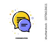 social network communication... | Shutterstock .eps vector #1070613611
