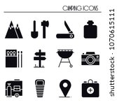 hiking and camping icons set....   Shutterstock .eps vector #1070615111