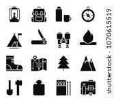 hiking and camping icons set....   Shutterstock .eps vector #1070615519