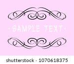 calligraphic vintage frame... | Shutterstock .eps vector #1070618375