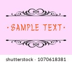 calligraphic vintage frame... | Shutterstock .eps vector #1070618381