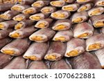 dried fish at the market | Shutterstock . vector #1070622881