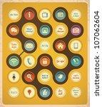 retro communication concept... | Shutterstock .eps vector #107062604