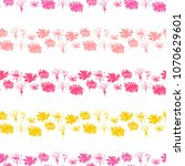 beautiful pattern with striped... | Shutterstock .eps vector #1070629601