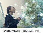 social networking concept. | Shutterstock . vector #1070630441