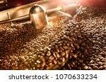 roasting plant. fresh roasted...   Shutterstock . vector #1070633234