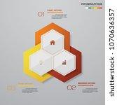 modern 3 options presentation... | Shutterstock .eps vector #1070636357