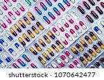 full frame of colorful... | Shutterstock . vector #1070642477