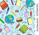 seamless school background ... | Shutterstock .eps vector #107064341