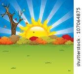 beautiful autumn background... | Shutterstock .eps vector #107064875