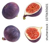 Small photo of Fresh figs isolated on white background with clipping path
