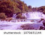krka national park in dalmatia... | Shutterstock . vector #1070651144