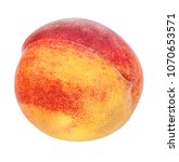 peach isolated on white... | Shutterstock . vector #1070653571